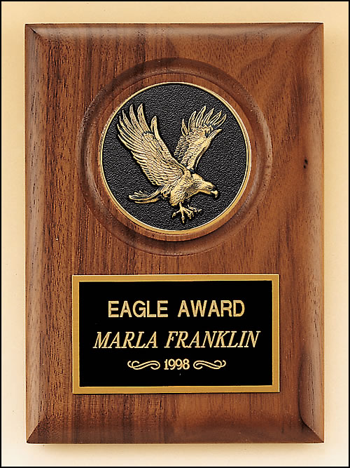 American Walnut Plaque with Eagle Casting (P3168)